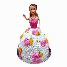 Floral Barbie Cake Flower N Gifts