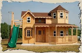 wood outdoor kids playhouses