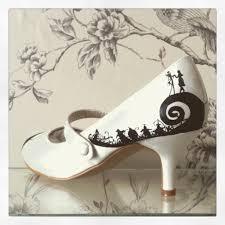 "Ashlee Norris on Twitter: ""Handpainted Nightmare Before Christmas #wedding  shoes #WeddingWednesday #wedding #bridehour #bridestobe #weddinghour  http://t.co/b4zLUCRjoz"""
