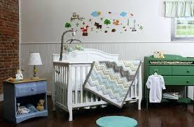 zig zag crib bedding set elephant