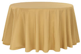 polyester 108 round tablecloth gold