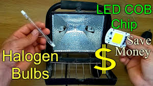 Changing Halogen Flood Light Bulbs How To Replace Convert A Halogen Floodlight With An Led Chip