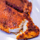 baked tilapia with lots of spice