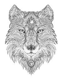 Wolf Adult Colouring Page Colouring In Sheets Art Craft Art