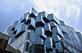 abstract building architecture design office building mirror and stainless steel design box pailing random exterior design boxed ice office exterior