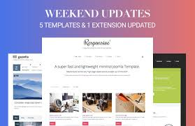 Website Builder Templates New Weekend Updates 48 Joomla Templates And 48 Extension Updated