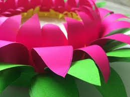 How To Make Lotus Out Of Thick Chart Paper Diy Easy