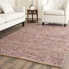 4 x 5 area rug safavieh bohemian hand woven natural purple wool jute