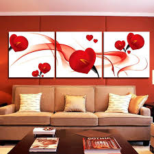 gorgeous incredible decor art canvas fashion red flower piece modern art wall
