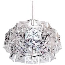 crystal and chrome chandelier by kinkeldey germany