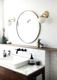 metal framed mirrors bathroom mirror round black