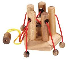 Wooden Ball On String Game Family Tie Wooden String puzzle Solve It Think Out of the Box 17