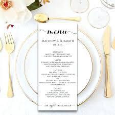 Elegant Black And White Wedding Menu Template Sample