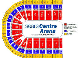Illinois Seating Chart Football Seating Charts Sears Centre Arena Sears Centre
