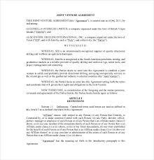 Sample Joint Venture Agreements. 9 10+ Partnership Agreement ...