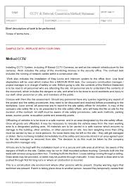 Method Of Statement Interesting CCTV Network Connection Method Statement