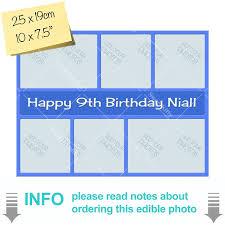 Blue Coloured Multi Edible Photo Cake Template Mtr328