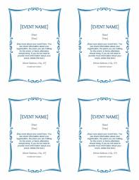 Event Invitation Word Template