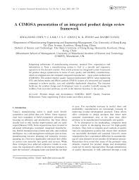 Product Design Using Value Engineering A Cimosa Presentation Of An Integrated Product Design