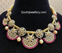 Antique Polki Jewellery Designs Antique Gold Polki Diamond Necklace Indian Jewellery Designs