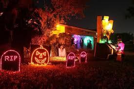 outdoor halloween lighting. Part Of Our Outdoor Halloween Show Lighting I