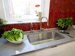 Red White Kitchen Glass Tile Backsplash Ideas Pictures Tips From Hgtv Hgtv