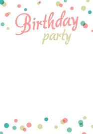Birthday Party Invitation Templates Free Printable Party