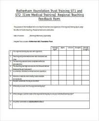 Customer Feedback Form Interesting Sample Teaching Feedback Forms 44 Free Documents In Word PDF