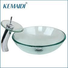 bathroom basin bowls new bathroom transpa glass basin sink bath basin vessel vanity tempered glass bowl bathroom basin bowls