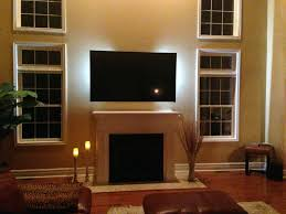 smlf install tv above brick fireplace hide wires ct mounted concealed flat screen gas over