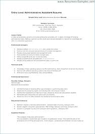 Entry Level Office Assistant Resume Publicassets Us