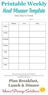 Food Plan Template Diet Meal Planner Template Free Weekly Meal Planner Template With