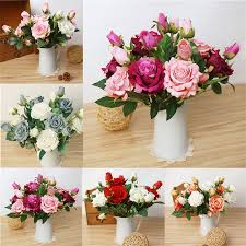 Flannel Rose Simulation Flower Home Decoration Flower European And Enchanting Dress Up Bedroom Style