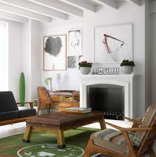 white furniture ideas. Mid-Century Modern Living Room White Furniture Ideas
