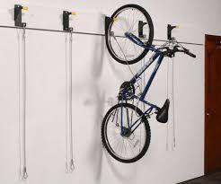 Wall Mounted Hanging Bike Racks Push Button Overhead Bicycle Wall Mounted  Bike Rack