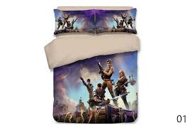 customized fortnite bed set duvet cover