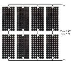 solar power panels or cells in parallel circuits wiring solar panels in parallel diagram connection with 8 solar cells 2v 4i