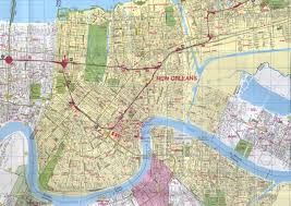 new orleans louisiana city map  new orleans louisiana • mappery