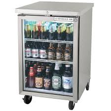 beverage air bb24hc 1 g s 24 stainless steel back bar refrigerator with 1 glass door 115v