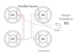 speaker wiring in series parallel diagram gooddy org 3 8 ohm speakers in parallel at Speaker Cabinet Wiring Diagram