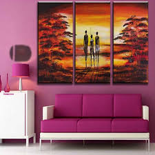Small Picture hand painted pictures abstract india landscape oil painting wall