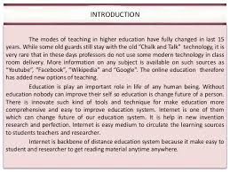 role of internet to promoting higher education role of ict in higher education