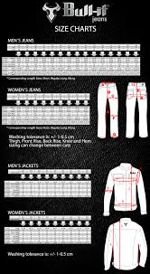 Bull It Jeans Size Chart Bull It Jeans Sizing Chart Alesso Motorcycles