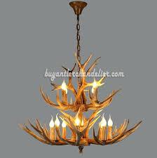deer antler chandelier 8 4 cast cascade candle style rustic lighting fixtures real uk
