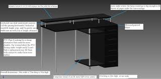 hey imgur i m designing a small gaming desk and wanted to know if you guys could offer me any opinions or ideas on it the cost to build this desk