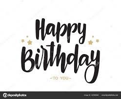 Feliz Cumpleaños En Letra Manuscrita Letras Tipo