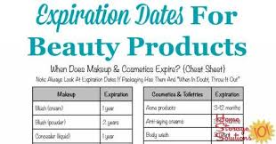 Beauticontrol Foundation Color Chart Shelf Life Of Makeup Cosmetics Expiration Dates