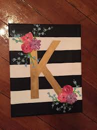 Floral Letter Canvas by CharmingCanvases on Etsy. Canvas Ideas Kids3 Canvas  Painting ...