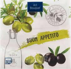 <b>Салфетки</b> трехслойные <b>Art Bouquet</b> Buon Appetito 33x33 см, 20 ...