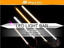 <b>LED Bar Light</b> 220V <b>30cm</b> 50cm SMD2385 72LEDs <b>LED</b> Strip Clear ...